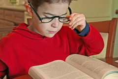 Boy Reading Stock Images