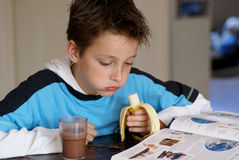 Boy reading. Royalty Free Stock Photo