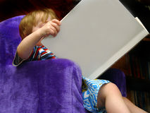 Boy Reading Stock Photography