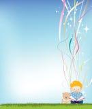Boy reading background Stock Photo