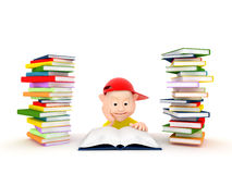 Boy reading book Stock Image