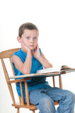 Boy reading book Royalty Free Stock Photo