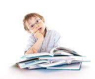 Boy reading a book Stock Image