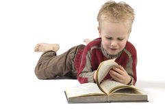 Boy reading a book 6 Stock Photo