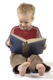 Boy reading a book 7 Stock Photo