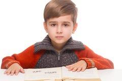 Boy reading Stock Photos