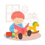 Boy reading book Royalty Free Stock Image