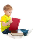 Boy reading books Stock Photos