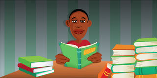 Boy reading books Stock Photos