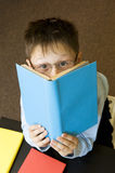 Boy reads the book. Stock Photos