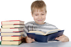 The boy reads the book Royalty Free Stock Photography