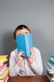 Boy reads a book Royalty Free Stock Photography