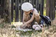 Boy reads a book Royalty Free Stock Photos