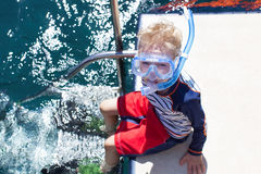 Boy ready to snorkel Stock Photography