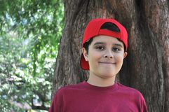 Boy in Red Stock Images