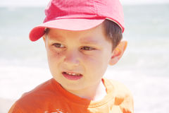 Boy in red cap Royalty Free Stock Image