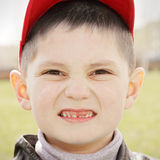 Boy in red cap Stock Photos
