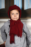 Boy in a red cap Royalty Free Stock Photos