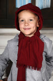 Boy in a red cap Royalty Free Stock Image