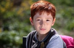Boy, Red Hair, Freckles, Portrait Stock Image