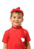 Boy in a red hat Stock Photos