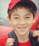 Boy With Red Hat and Shirt royalty free stock photo