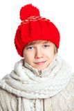 Boy with red heart Royalty Free Stock Photo