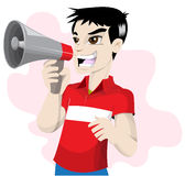 Boy in red shirt Stock Images