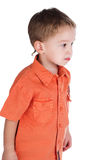 The boy in a red shirt Stock Photos