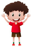Boy in red shirt smiling Royalty Free Stock Photos