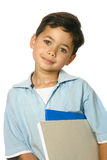 Boy with red sketching pad Royalty Free Stock Images