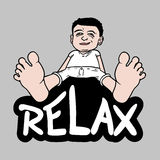 Boy relax Stock Photos