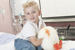Boy Relaxing in pediatric hospital Stock Photos