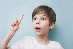 Boy remembered something Royalty Free Stock Photography