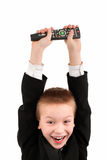 Boy with remote control Stock Photos