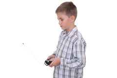 Boy with remote controller Royalty Free Stock Image