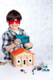 Boy repairman Royalty Free Stock Image