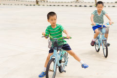 Boy rid bicycle Stock Photography