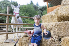 Boy rider portrait Royalty Free Stock Images