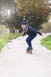 Boy rides a skateboard Stock Image