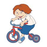 Boy riding bicycle Royalty Free Stock Photography