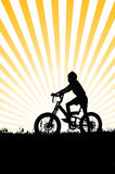 Boy riding a bicycle Royalty Free Stock Photo