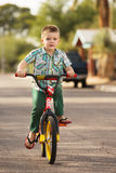 Boy Riding Bicycle Stock Photography