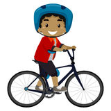 Boy riding a Bicycle. Vector Illustration of a Boy riding a Bicycle Stock Photography