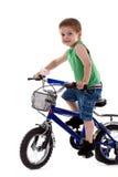 Boy riding a  bike Stock Photo