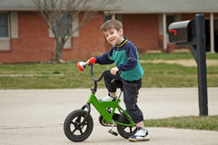 Boy Riding Bike Stock Photo