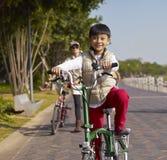 Boy riding bike Royalty Free Stock Image