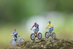 Boy riding a bike close up stock photo