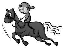 Boy riding a horse Royalty Free Stock Photos