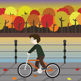 The boy riding icon great for any use. Vector EPS10. Royalty Free Stock Images